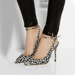 Shoespie Leopard Print Backless Stiletto Heels