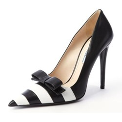 Slip On Color Block Bow Stiletto Heels