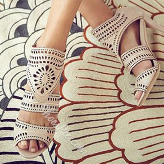 Shoespie Cage Carving Sandals