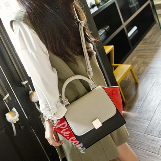 Shoespie Savvy Street Color Block Wing Bag