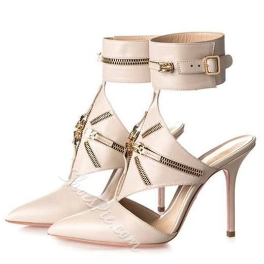 Shoespie Wild Chain buckled Stiletto Heels