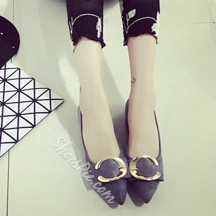 Shoepsie Metal Embellished Loafers