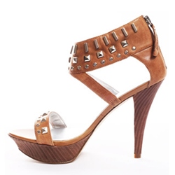 Shoespie Rivets Platform Sandals