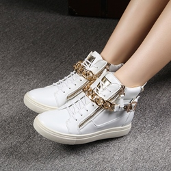 Shoespie Zippers and Chains Sneakers