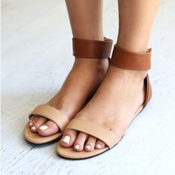 Sheospie Ankle Wrap Flat Sandals