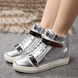 Shoespie Patent Leather Sneakers