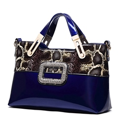 Shoespie Elegant Contrast Color Tote