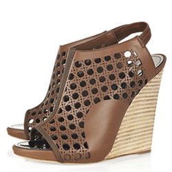 Shoespie Cutout Wedge Sandals