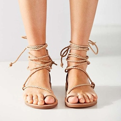 Shoespie New Arrival Lace Up Flat Sandals