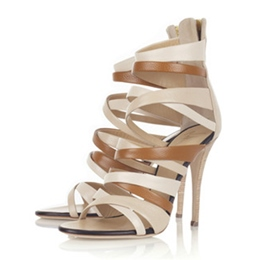Shoespie Duo Color Strappy Dress Sandals