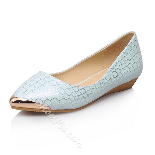Fabulous Glitter Embossed Metallic Toe Flats