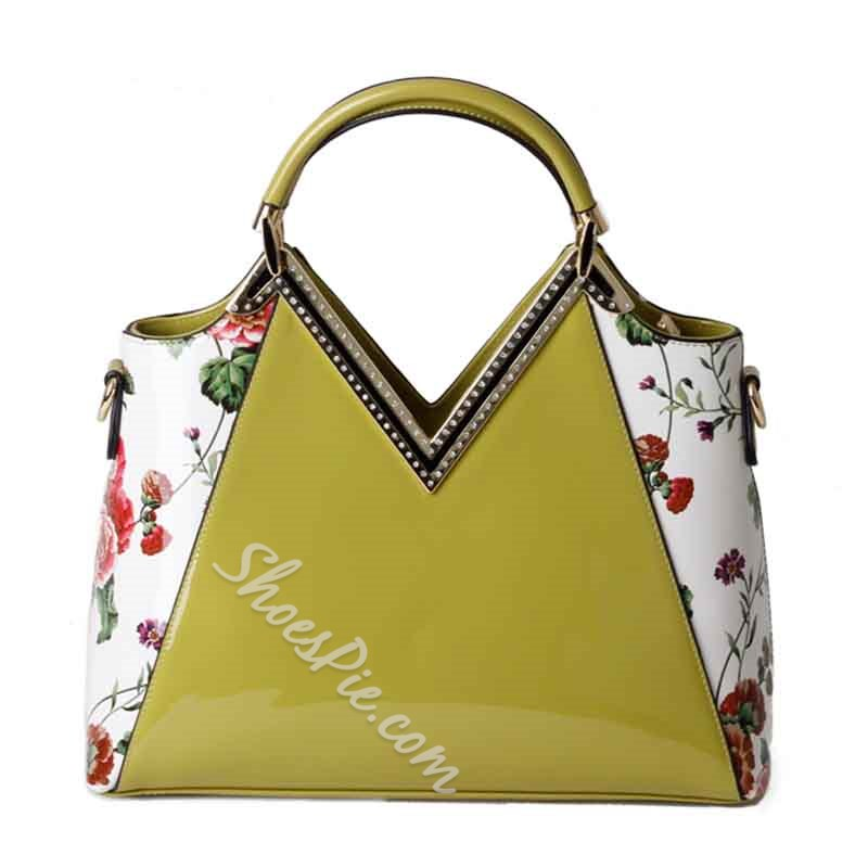 Shoespie Flower Patchwork Large Bag