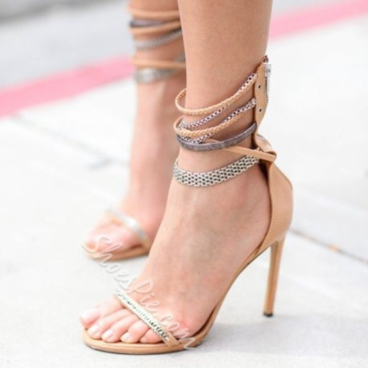 Shoespie Nude Chains Dress Sandals