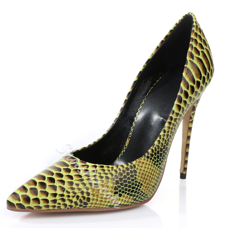 Shoespie High Quality Snake Effect Court Shoes