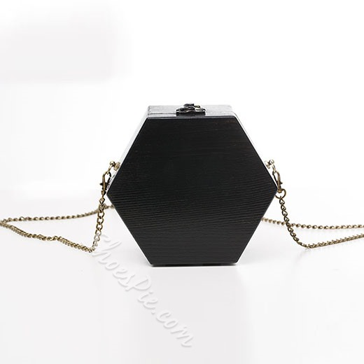 Shoespie Original Wooden Hexagon Chain Bag