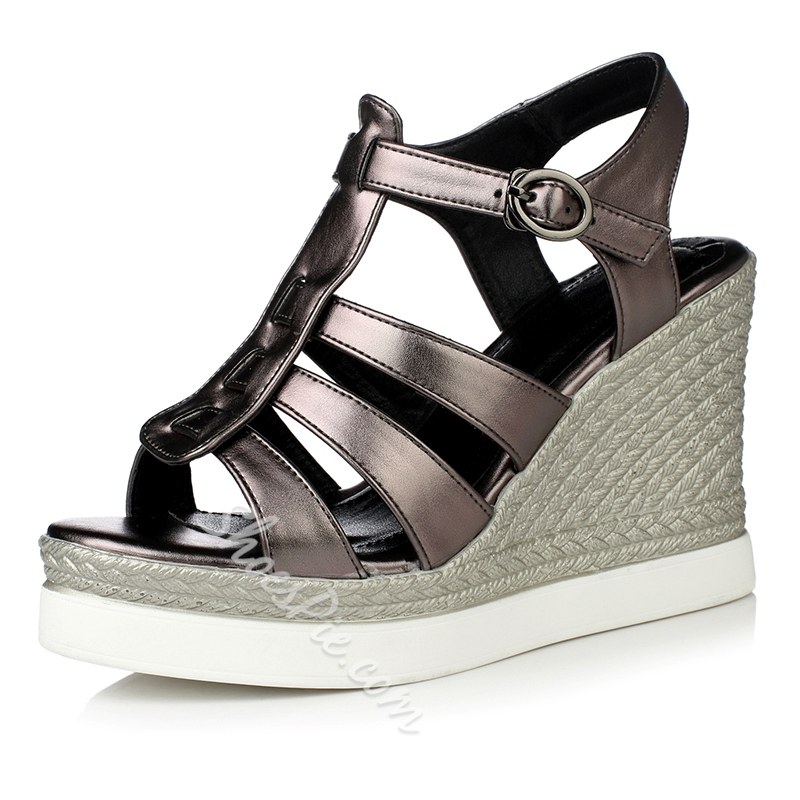 Shoespie T Strappy Wedge Sandals
