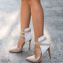 Shoespie Chic Nude Court Shoes