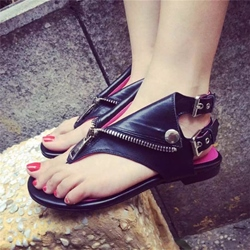 Shoespie Punk Style Flat Sandals