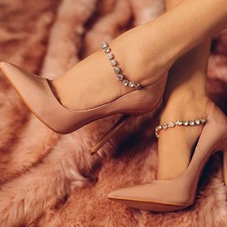Shoespie Classy Jewelled Stiletto Heels