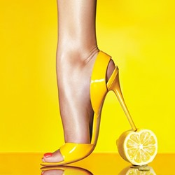 Shoespie Yellow Open Toe Slingback Stiletto Dress Sandals