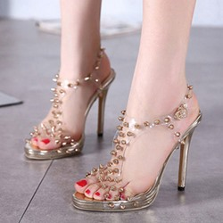 Shoespie Golden Spikes Sandals