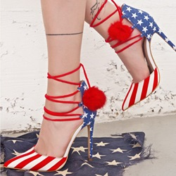 Shoespie Spangled Stars Lace Up Shoes