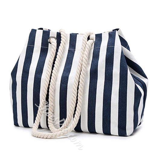 Shoespie Light Sporty Blue and White Stripes Bag