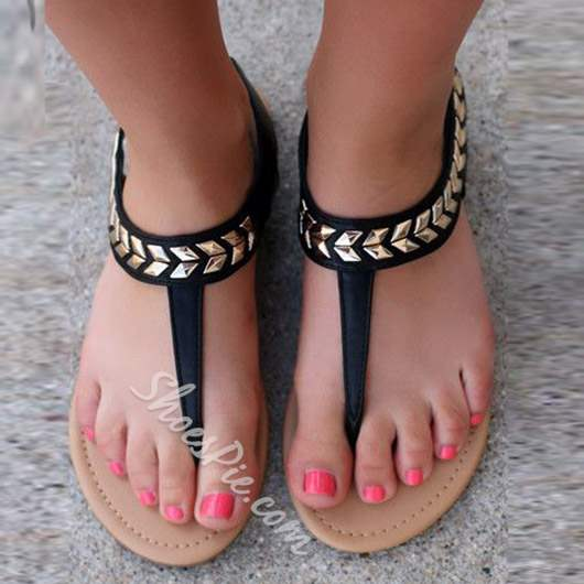 Shoespie Chic Thong Flat Sandals