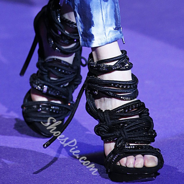 Shoespie Unique Rope Braided Sandals