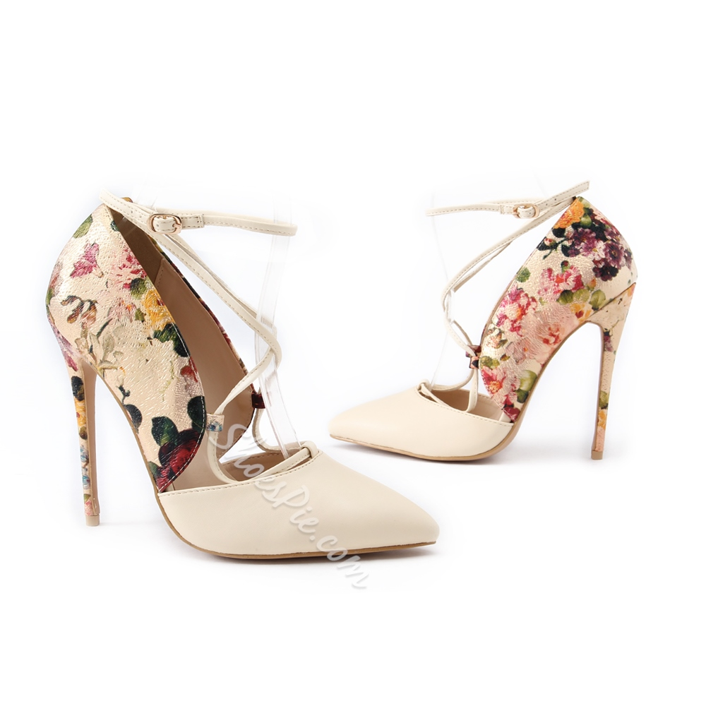 Shoespie Exotic Style Print Patchwork Stiletto Heels