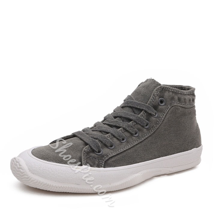 Shoespoie Demin Threading Men's Sneakers