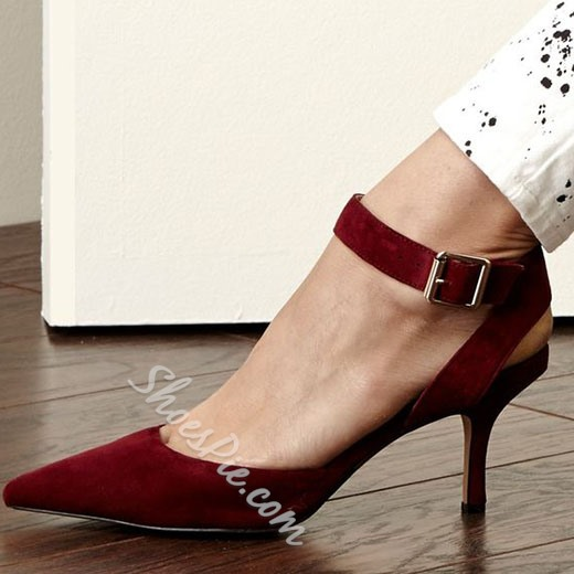 Shoespie Elegant Pointed Toe Low Stiletto Heels