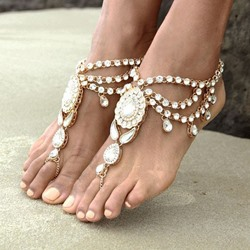 Shoespie Rhinestone Sexy Beach Anklet (Single)