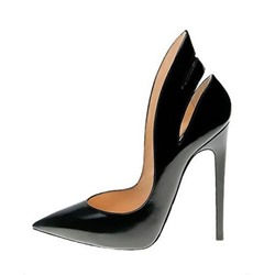 Shoespie Black Court Shoes