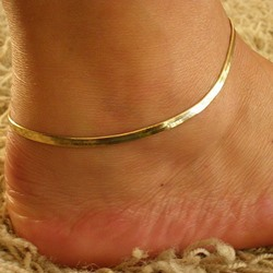 Shoespie Electroplated Snake Chain Anklet (Single)