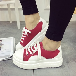 Shoespie Campus Girl Color Block Sneakers