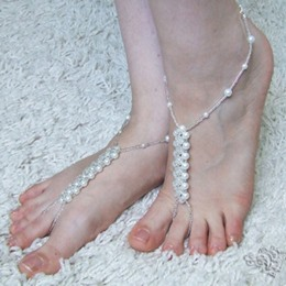 Shoespie Pearl Beading Anklet (Single)
