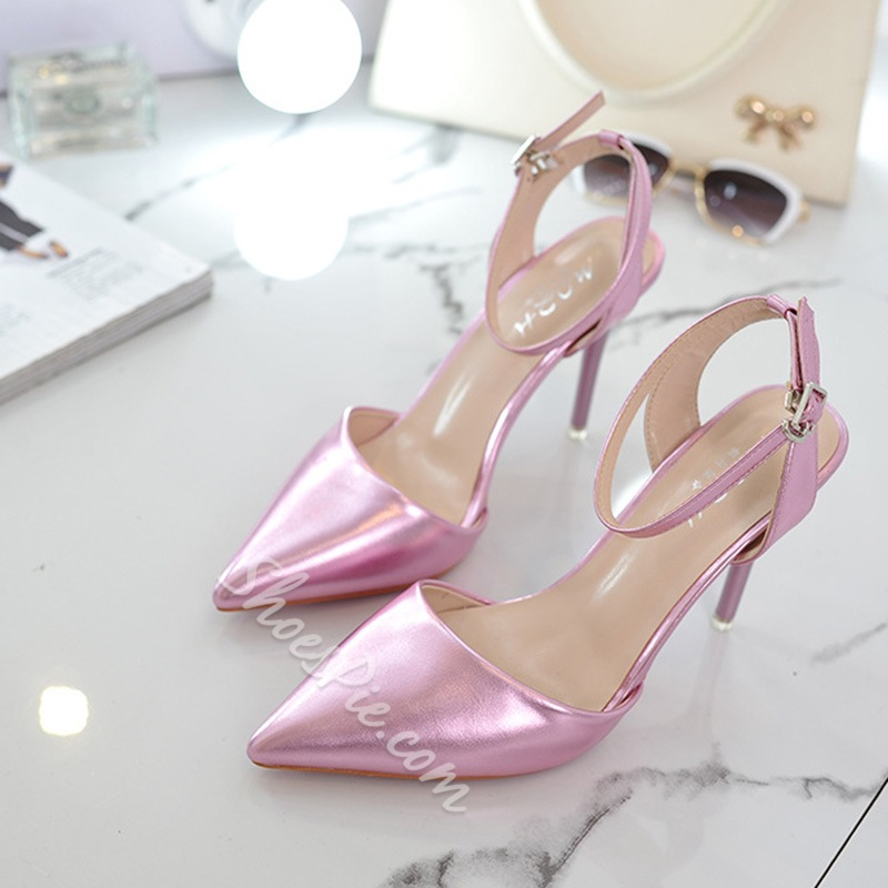 Shoespie Satin Pointed Toe Backless Stiletto Heels