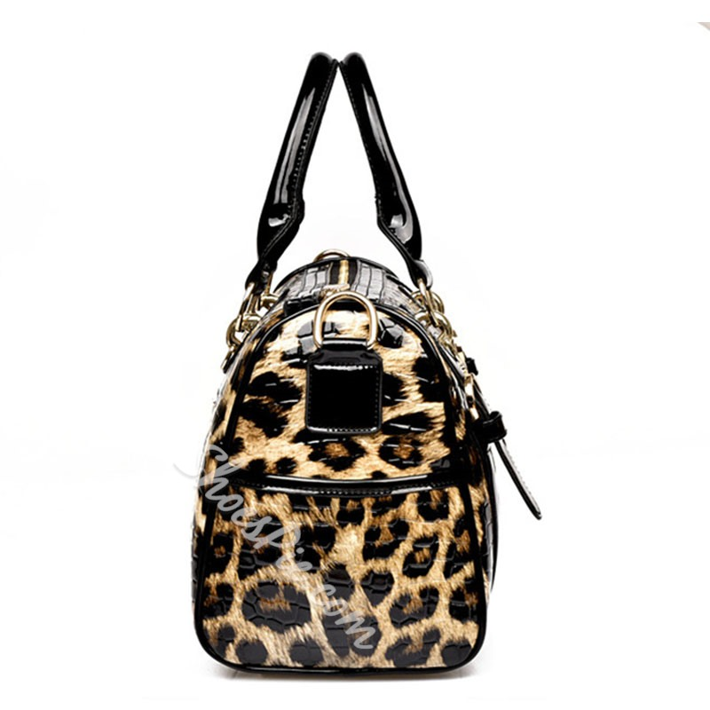 Shoespie Leopard Print Tote Bag