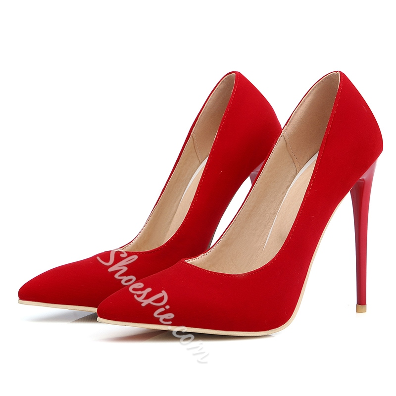 Shoespie Classic Solid Color Stiletto Heels