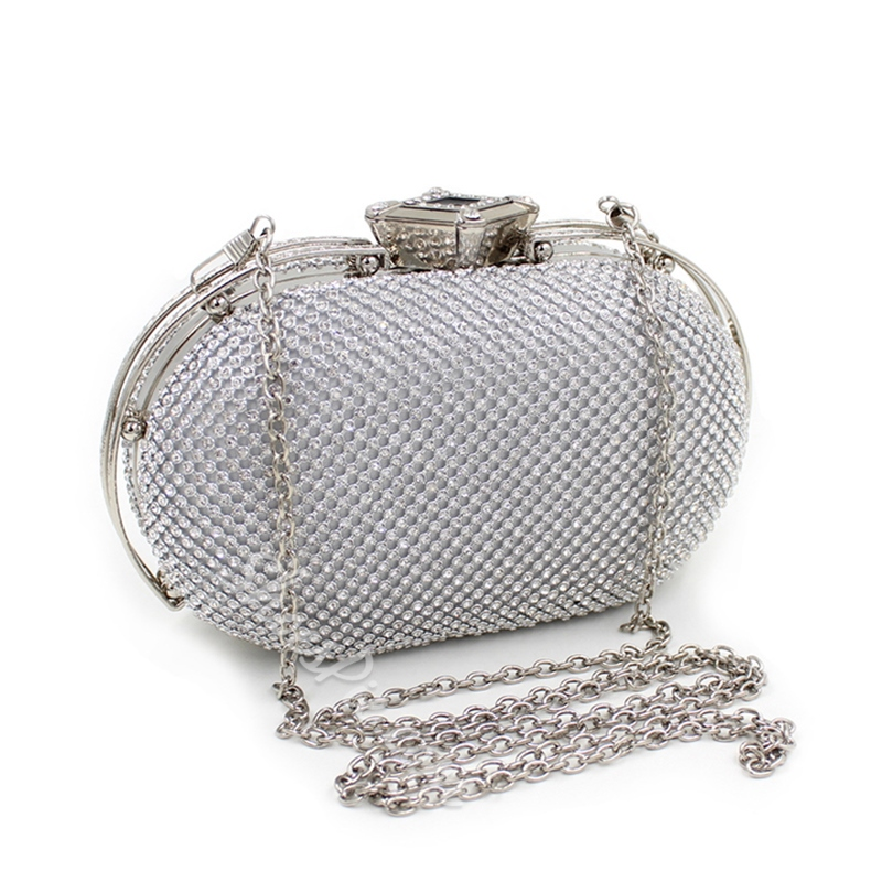 Shoespie Rhinestone Mini Handbag