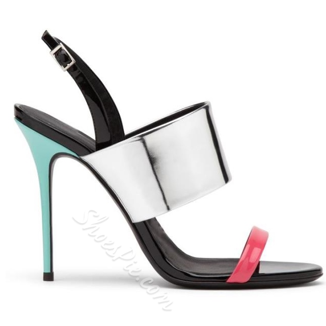 Shoespie Color Block Strappy Dress Sandals