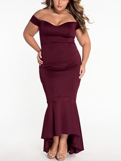 ShoespieAsymmetric Falbala Floor-Length Bodycon Dresses