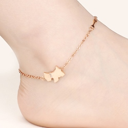 Shoespie Classy Rose Gold Anklet (Single)