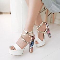 Shoespie Multi Color Heel Platform Sandals