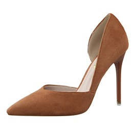 Shoespie Solid Color Simply Court Shoes