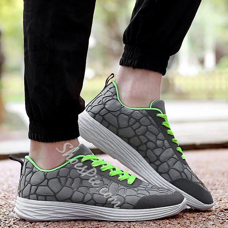 Shoespie Geometric Shapes Summer Breathable Men Sneakers