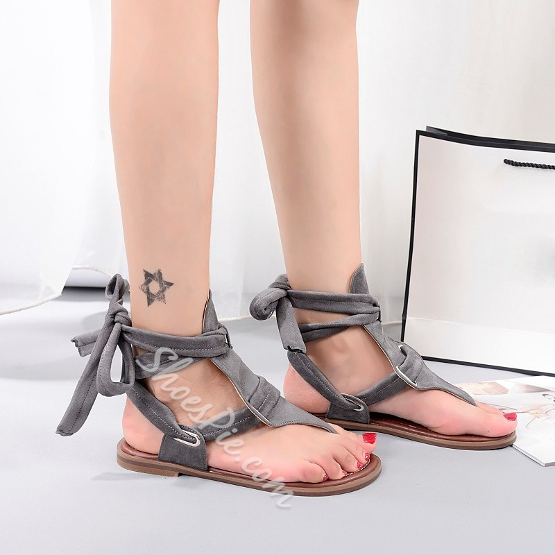 Shoespie Gray Gladiator Sandals