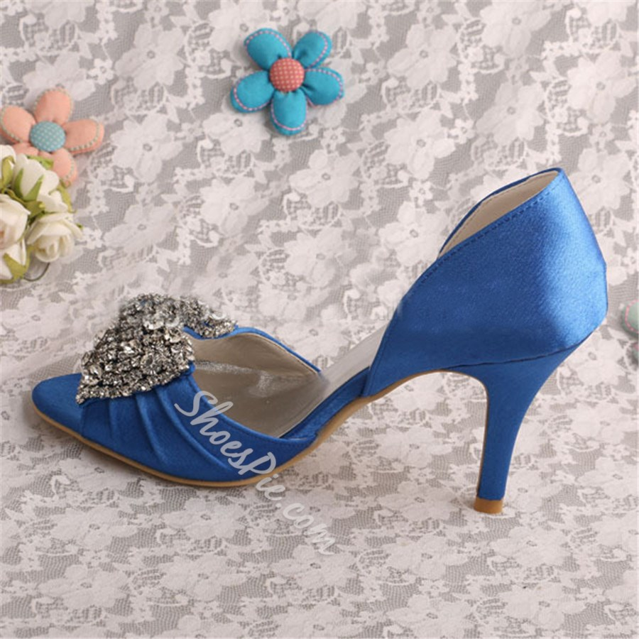 Shoespie Glamorous Blue Dress Sandals