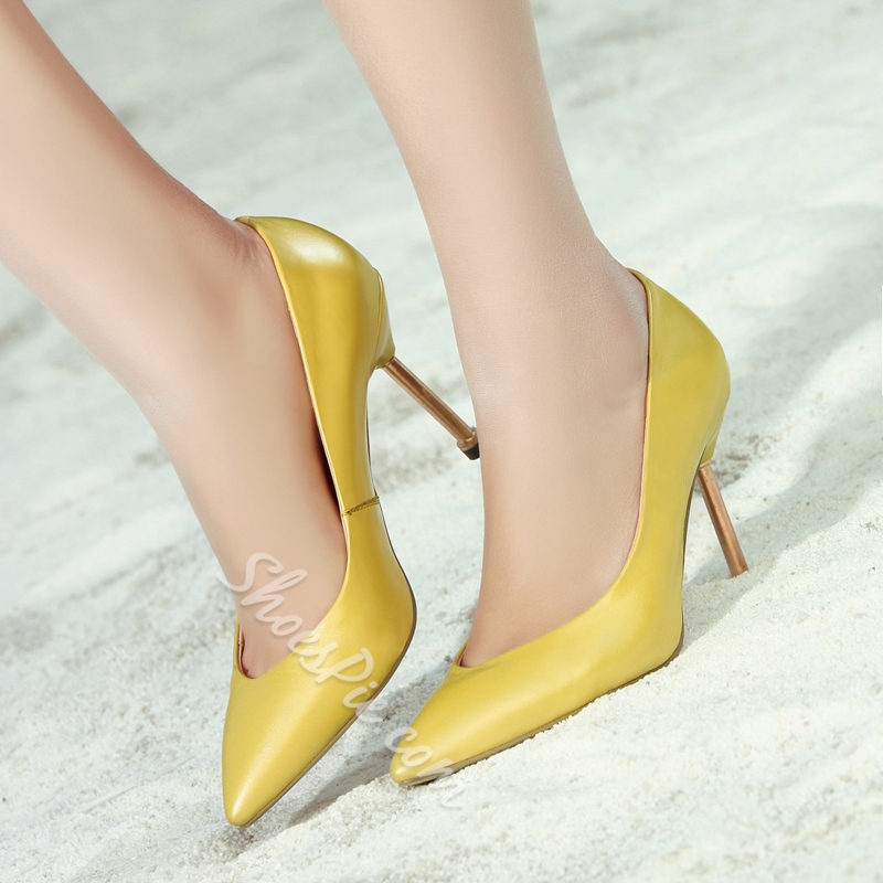 Shoespie Solid Color Pointed Stiletto Heels